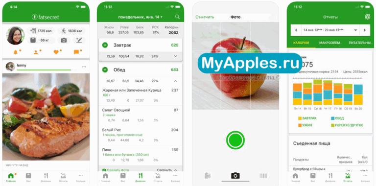 ТОП-3 лучших приложений для очень точного подсчета потребляемых калорий на Айфон