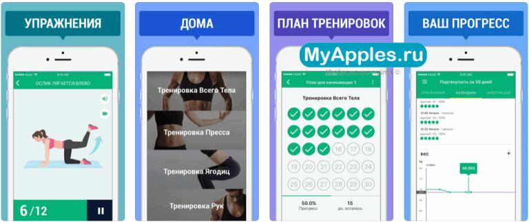 ТОП-5 приложений на Айфон для тренировок в домашних условиях